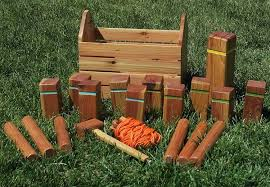 Lawn Game With Wooden Blocks Interesting Kubb Pronounced Koob Is A Lawn Game Where The Object Is To Knoc