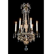 set of 4 crystal chandeliers