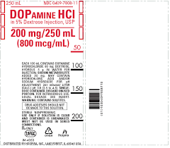 Dopamine Hydrochloride Rx Onlyin 5 Dextrose Injection Usp