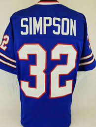 Xl Jersey Simpson Blue Custom 2xl About Unsigned Football Details Size j L - Sewn O|2019 Fantasy Football Mock Draft