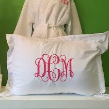 standard pillow shams. Image White Monogrammed Pillow Sham Standard Shams R