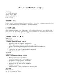 Office Assistant Resume Sample Fascinating Office Administration Resume Examples Colbroco