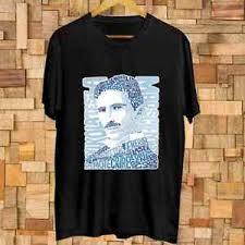 Tesla Clothing Size Chart Details About Nikola Tesla Genius Inventor Electric Wizard Art T Shirt Size S 3xl