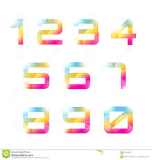 number templates 1 10 vector 1 10 numbers font template count letters stock vector