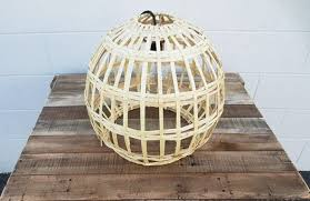 basket pendant light. Reed Globe Basket Lantern With Pendant Light