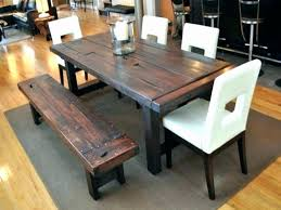 rustic dining room tables dining room table with benches dining room