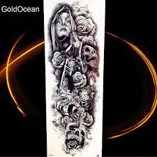 48x17 см большой боди арт рука поддельные водонепроницаемый татуировки наклейки