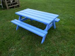 image of kids picnic table