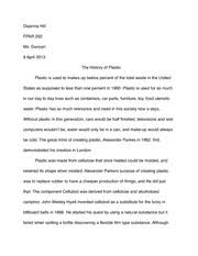 the prison experiment essay if you were a guard in this  3 pages the history of plastic essay