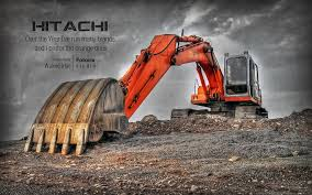 hitachi excavator wallpaper. orange monster- hitachi - are you planing on doing a lot of dirt work with hitachi excavator wallpaper flickr