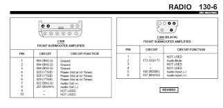 2003 ford mustang gt radio wiring diagram the best wiring 2001 ford mustang stereo wiring diagram at Mustang Audio Wiring Harness