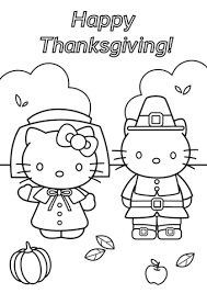 Small Picture Hello Kitty Thanksgiving coloring page Free Printable Coloring Pages