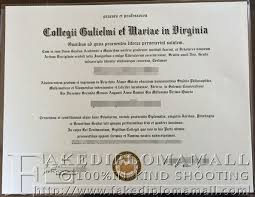 want to buy a fake diploma from college of william mary in  college of william mary degree collegii gulielmi et mariae in virginia diploma