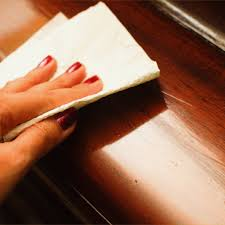 nail polish remover stain on wooden table