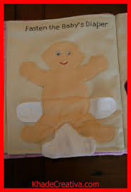 khadecreativa quiet book idea fasten the babys diaper nappy source by