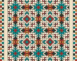 Southwest Quilt Pattern Native American / Indian & Southwest Quilt Pattern - Southwest quilt - Nativ American quilt - Full  size: 80