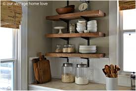Kitchen Furniture Uk Wall Mounted Wooden Kitchen Shelves Open Kitchen Shelving