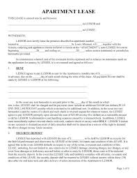 Renters Lease Agreement Free Print Forms Printable Commercial – Onbo ...