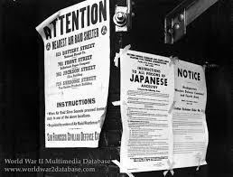 exclusion order posted at first and front streets the world war  exclusion order posted at first and front streets