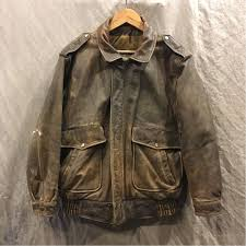 leather jacket flight jacket paviano airborne old clothes military a2 airborne