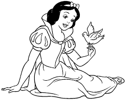 Small Picture Snow white coloring pages with bird ColoringStar