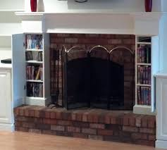 Built In With Fireplace Nick Custom Fireplace And Cabinet Built In With Additional Hidden