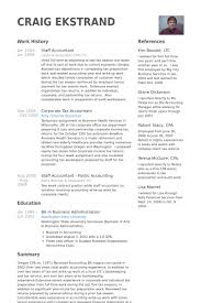 Staff Accountant Resume Samples - Visualcv Resume Samples Database