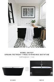 home depot urban retreat free standing bathtub