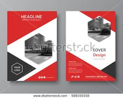 red annual report cover modern brochure design business brochure flyer corporate ideny brochure