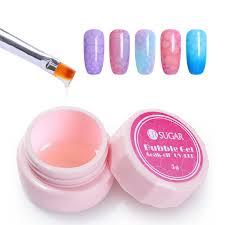 details about ur sugar soak off clear bubble uv gel polish nail glue for nail art tips diy 5g