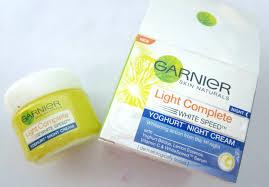 Garnier Light Moisturizer Review Garnier Light Complete Yoghurt Night Cream Review