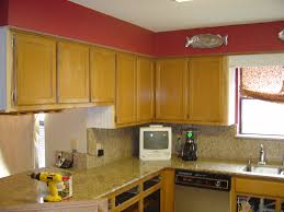 Plain Painting Oak Kitchen Cabinets White Cabinet Refinishing Golden Throughout Decorating