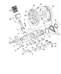 2007 chrysler 300 crankshaft pistons torque converter and drive plate diagram i2172770