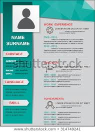 Resume Cv Template Infographics Background Element Stock Vector Magnificent Resume Background