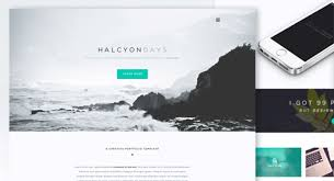 One Page Website Template Fascinating Halcyon Days One Page Website Template The Creative Feed
