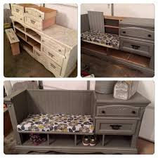 turn an old dresser into a mudroom bench these are the best