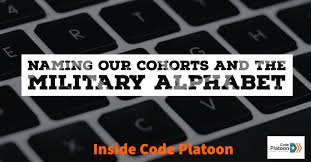 A phonetic alphabet is a list of words used to identify letters in a message transmitted by radio or telephone. Naming Our Cohorts And The Military Alphabet Code Platoon