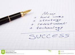 Free Ink Pens Ink Pen On The Paper With Business Quotes Royalty Free Stock