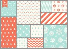 Simple Patterns Fascinating Set Of Simple Seamless Retro Christmas Patterns Royalty Free