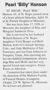 Obituary for Pearl Hanson (Aged 69) - Newspapers.com