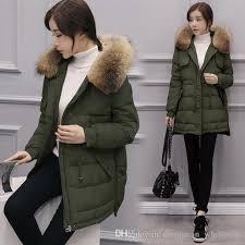 2018 nice korean style winter jacket women big size slim jacket warm hooded coat large fur collar white duck down jacket zz214 from tassed8