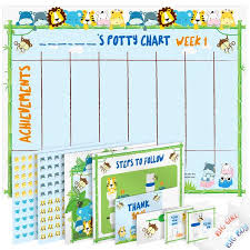 How To Make A Potty Training Chart Potty Training Chart For Toddlers Reward Your Child Sticker Chart 4 Week Chart