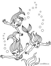 Small Picture Mermaid combing her hair coloring pages Hellokidscom