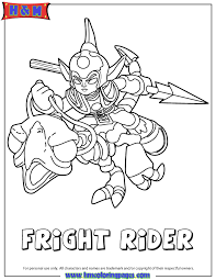 Small Picture Skylanders Giants Undead Fright Rider Coloring Page H M