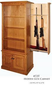Hidden Gun Coat Rack Amish Winchester Bookcase with Hidden Gun Rack From Dutchcrafters 36