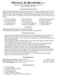 Massage Therapy Resume Samples Gallery Of Resume For Respiratory