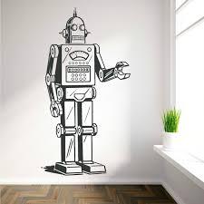 robot vinyl wall art sticker decal boys bedroom childrens room nursery wall decals adesivo de parede on robot nursery wall art with robot vinyl wall art sticker decal boys bedroom childrens room
