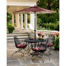 outdoor dining sets with umbrella. Full Size Of Exciting Mason Green Stanton Pc Wrought Iron Dining Set Your Way Patio Table Outdoor Sets With Umbrella