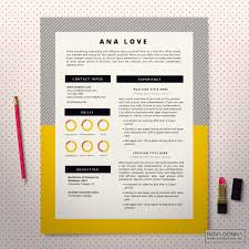 resume template cv template design cover letter modern pop resume template page 1