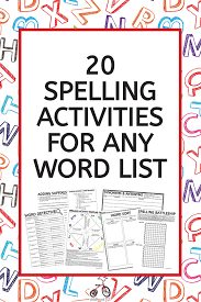 Activities Word Spelling Activities Worksheet Pack Use With Any Spelling List Low
